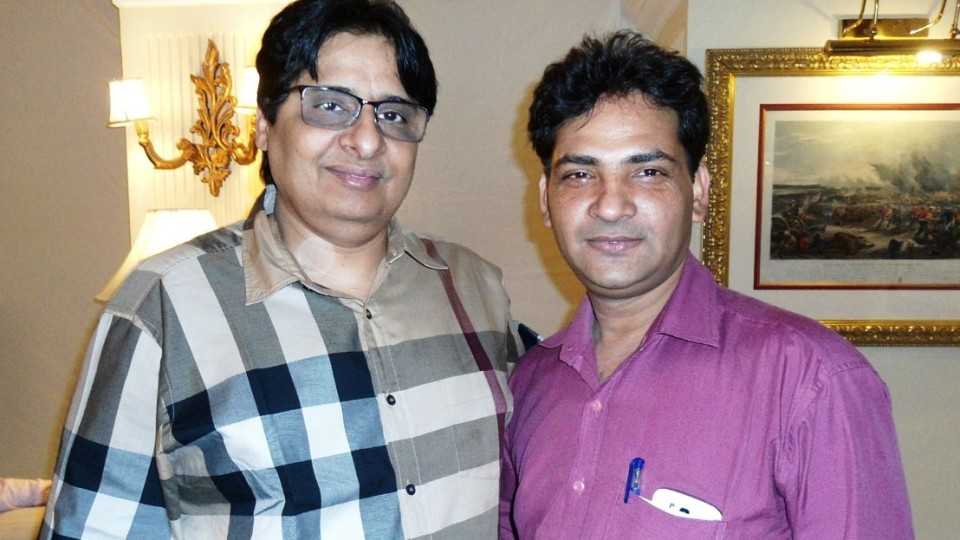 Ajay Shastri (Editor & Director) BCR NEWS (Online News Channel) & BOLLYWOOD CINE REPORTER (National Hindi Film Trade Newspaper) with Producer Vasu Bhagnani