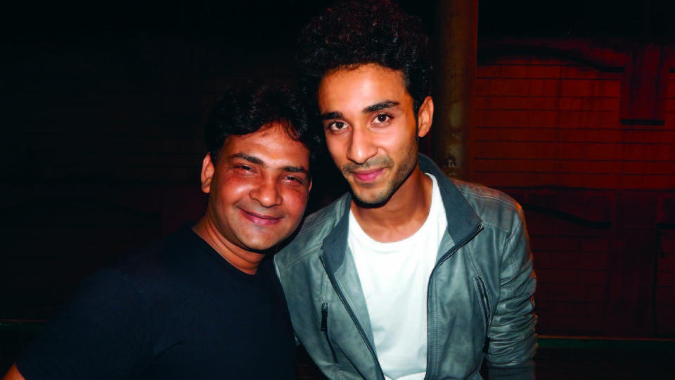 Ajay Shastri (Editor & Director) BCR NEWS (Online News Channel) & BOLLYWOOD CINE REPORTER (National Hindi Film Trade Newspaper) with Raghav Juyal (Actor & Choreographer)