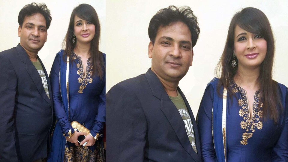 Ajay Shastri with Actress Preeti Jhingania