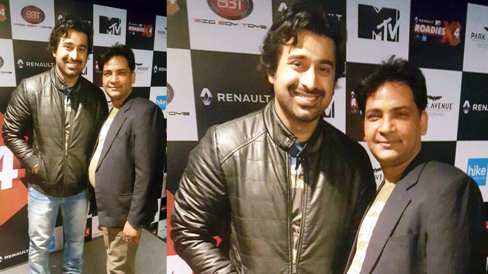 Ajay Shastri with Actor Rannvijay Singh