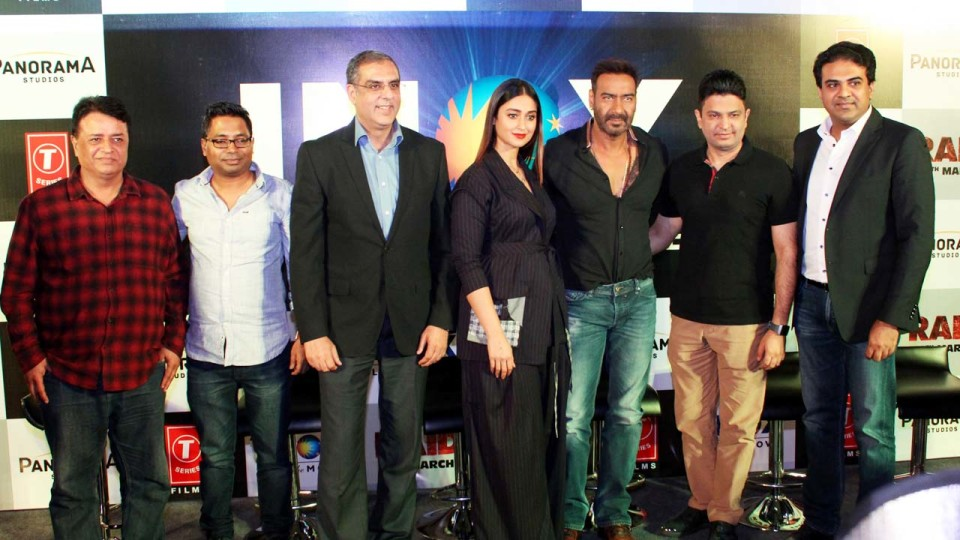 "Actor Ajay Devgun & Ileana D'Cruz promoted their upcoming crime drama film ""Raid"" in Delhi!"