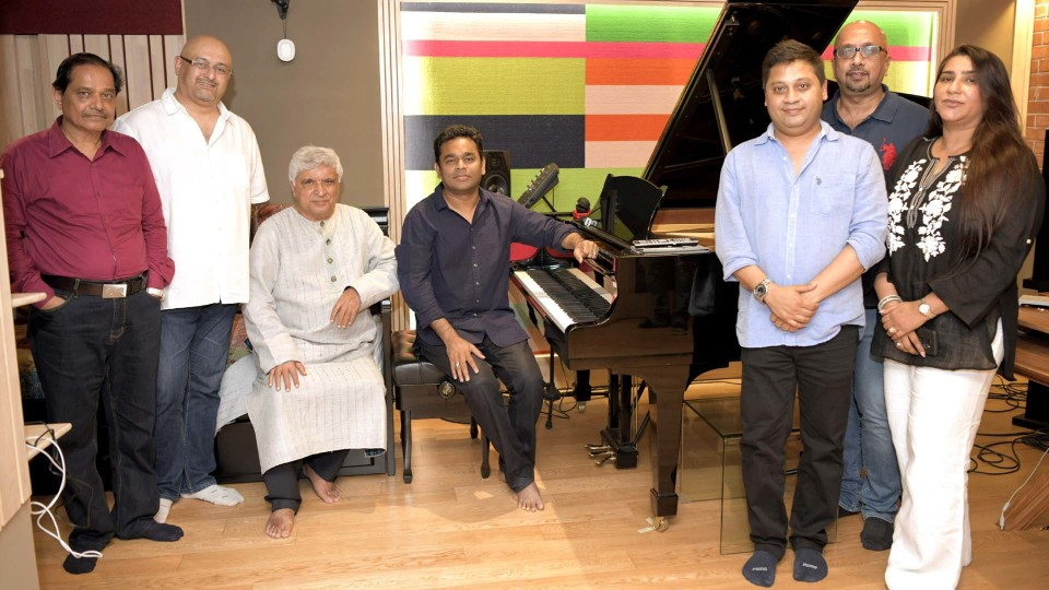 Javed Akhtar meets AR Rahman and Illayaraja at IPRS Chennai meet