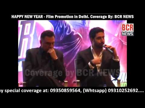 Happy New Year || Shahrukh Khan || Dipika Padukone Film Promotion in Delhi || Coverage by BCR NEWS