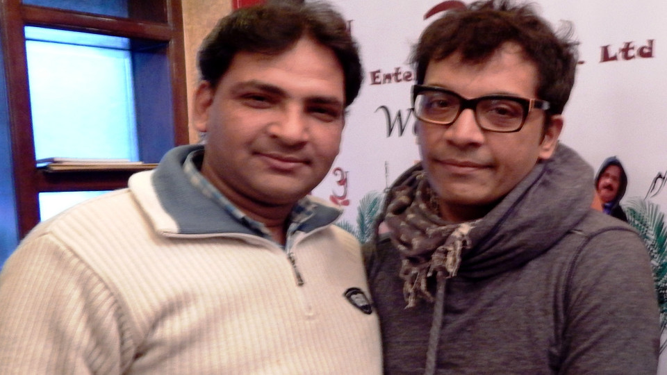 Ajay Shastri (Editor & Director) BCR NEWS (Online News Channel) & BOLLYWOOD CINE REPORTER (National Hindi Film Trade Newspaper) with Actor Brijesh Hirzi