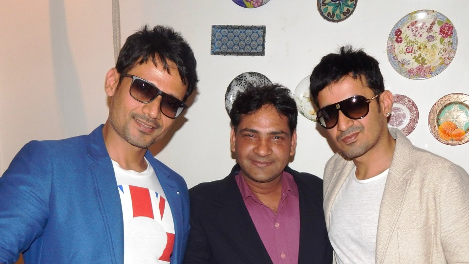 Ajay Shastri (Editor & Director) BCR NEWS (Online News Channel) & BOLLYWOOD CINE REPORTER (National Hindi Film Trade Newspaper) with Meet Brothers (Music Director)