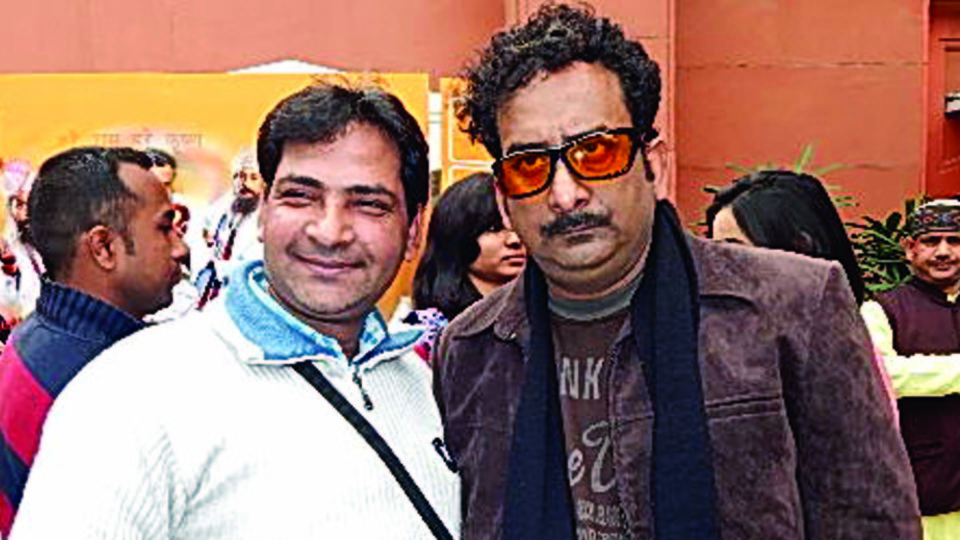 Ajay Shastri (Editor & Director) BCR NEWS (Online News Channel) & BOLLYWOOD CINE REPORTER (National Hindi Film Trade Newspaper) with Actor Hemant Pandey