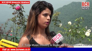 Actress Nisha Malik Interview on Video Shooting at Mussoorie | T-Time Music | BCR NEWS