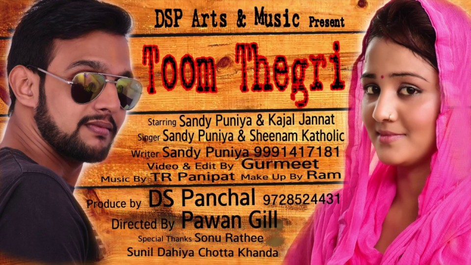 New Haryanvi song 2016 #TOOM THEGRI #Sandy puniya #Sheenam Katholic #Pawan gill #DSP Art Music #BCR NEWS