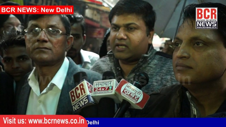 Protest against sealing by Jwalahari Market Traders in Paschim Vihar Delhi on BCR News