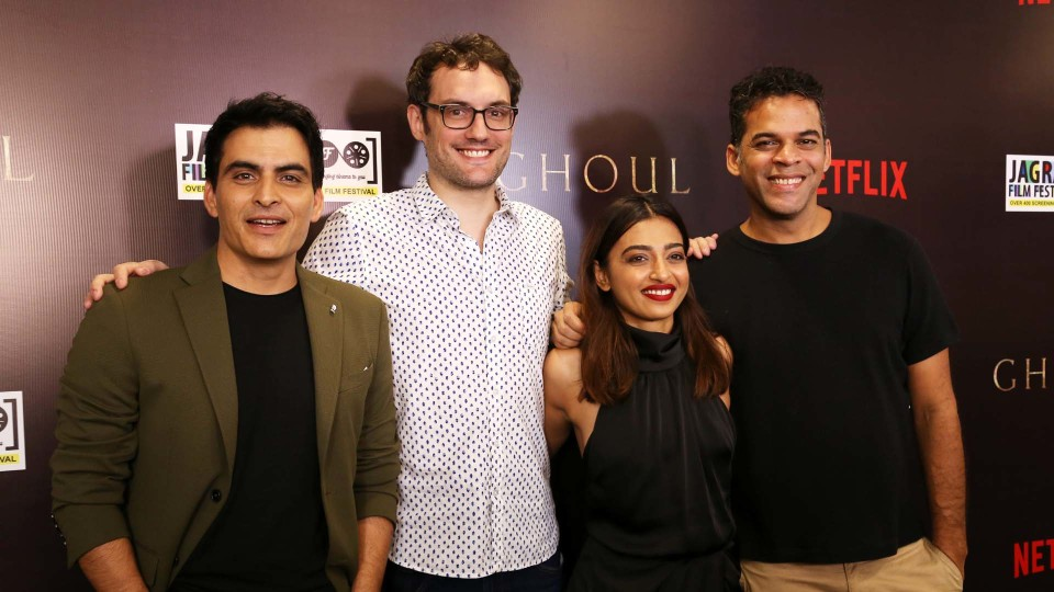Radhika Apte and Manav Kaul Promote Ghoul – Netflix's First Horror Series from India, at a special Screening by Jagran Film Festival